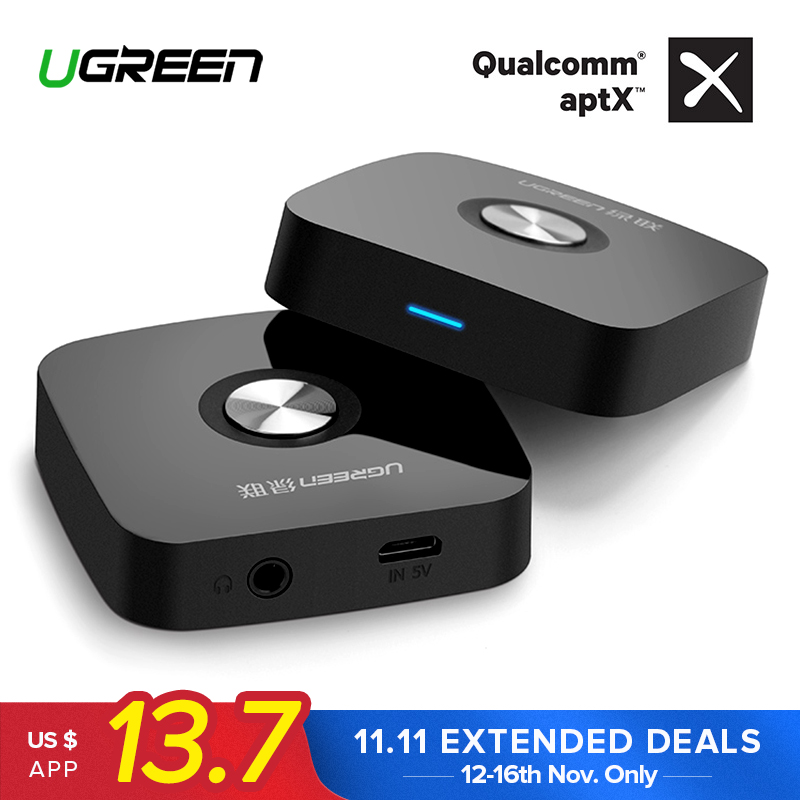 Ugreen 4.2 Wireless Bluetooth Receiver 3.5MM Aux receiver Audio Stereo Music Receiver Bluetooth Audio Adapter Car Aux Receiver receiver