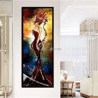 hand painted Wall Art Pictures woman and wine vertical kitchen decorative oil painting woman Canvas Pictures For Living Room