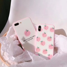 maosenguoji pink Tempered glass Korea ins Peach lovely Mobil