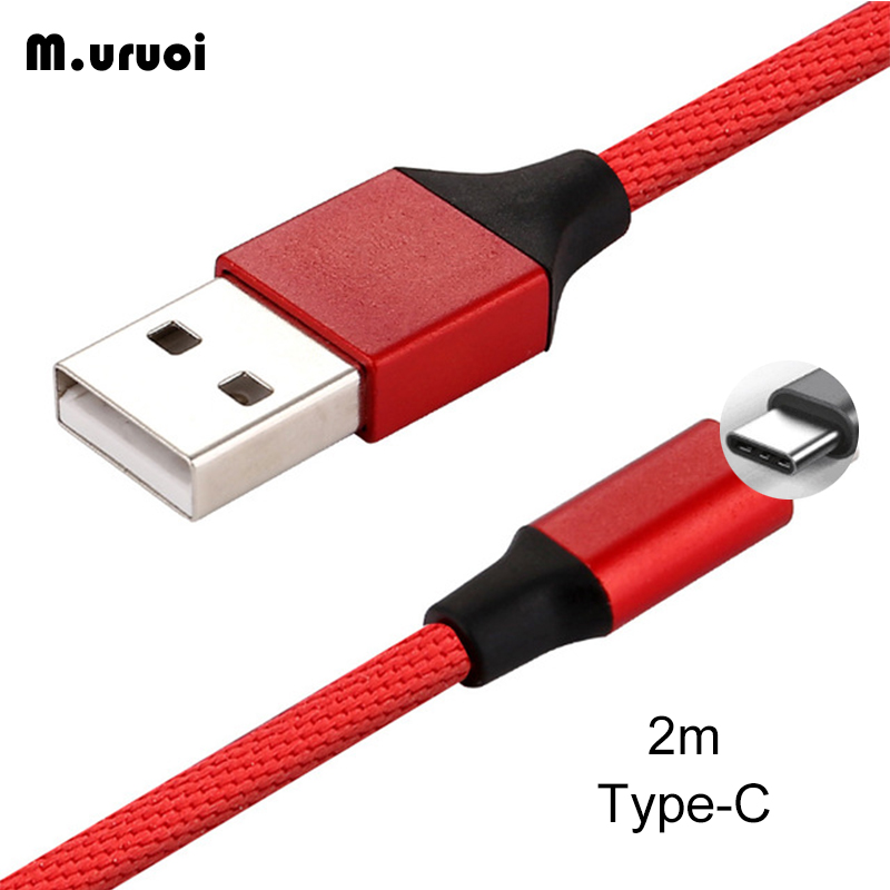 M.uruoi USB C Cable 2m Fast Charger Mobile Phone Data Cable For Samsung Huawei Xiaomi Android Stable Charging Type C Data Cord Mobile Phone Cables     - title=