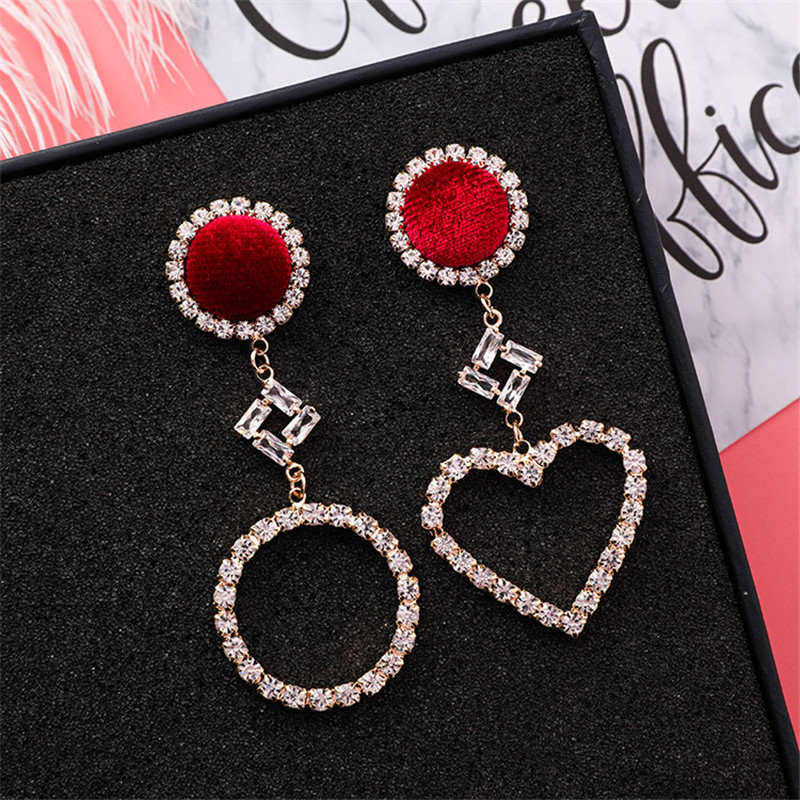 HTB1UDV5mMvD8KJjy0Flq6ygBFXa4 - 2019 New Hot Sale 20 Style Red Fashion Korean Elegant Geometric Dangle Earrings for Women Cute Pendant Mujer Jewelry