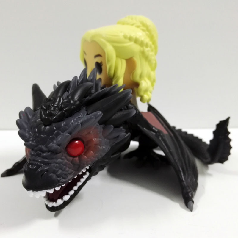 GAME OF THRONES DAENERYS Riding DRAGON 23cm Action Figure Model Toys funko pop game of thrones daenerys targaryen action figure model with gift box