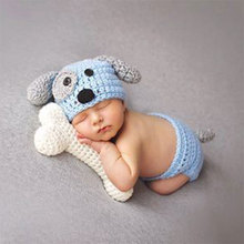 New!Newborn Baby Clothes Set Animal Boy Accessories Newborn Photography Props Pure Hand-knit High Quality Handmade Hat