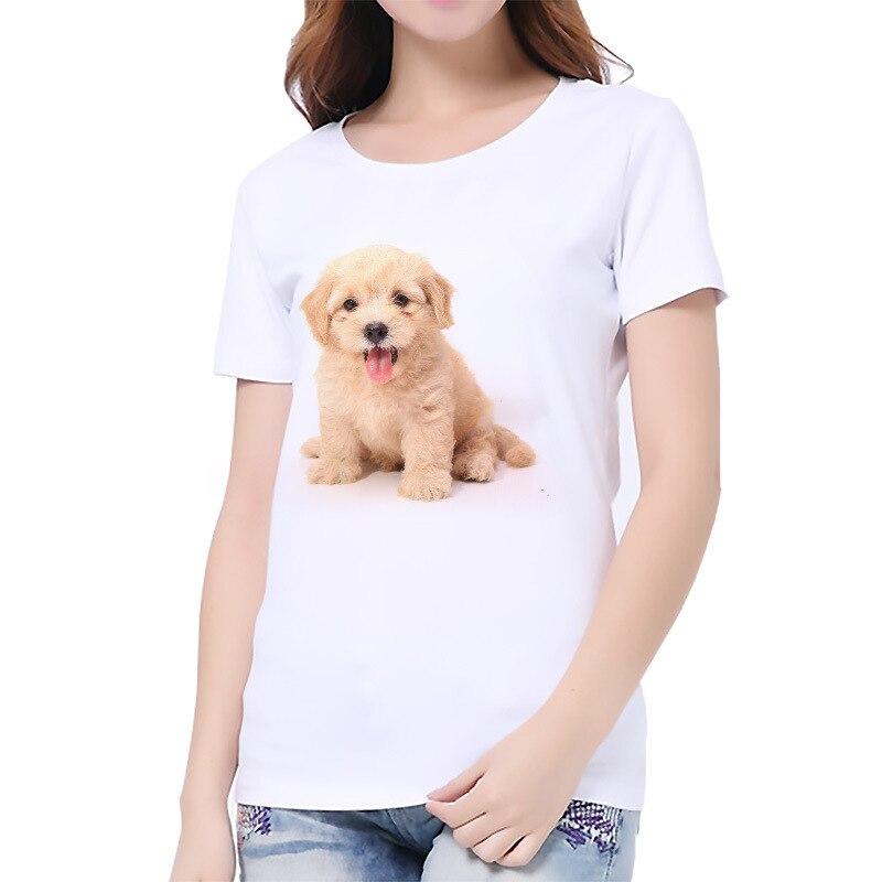 S-3XL 2019 mujeres 3D gato perro blanco de dama Casual camiseta de verano de manga corta Casual cuello redondo, ropa barata, top de mujer Cabeza de Maniquí de lona barata Alileader para pelucas cabeza con soporte 2 piezas tapas de cúpula negra para hacer pelucas 21