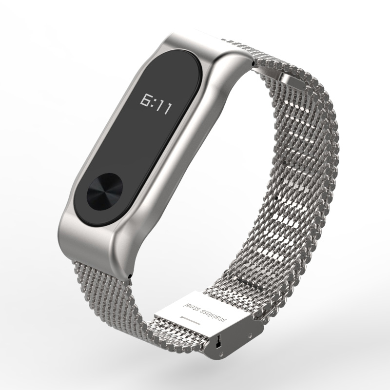 Metal Strap for Xiaomi Mi Band 2 Screwless Stainless Steel Bracelet for MiBand 2 Smart Band Replace Accessories For Mi Band 2 1