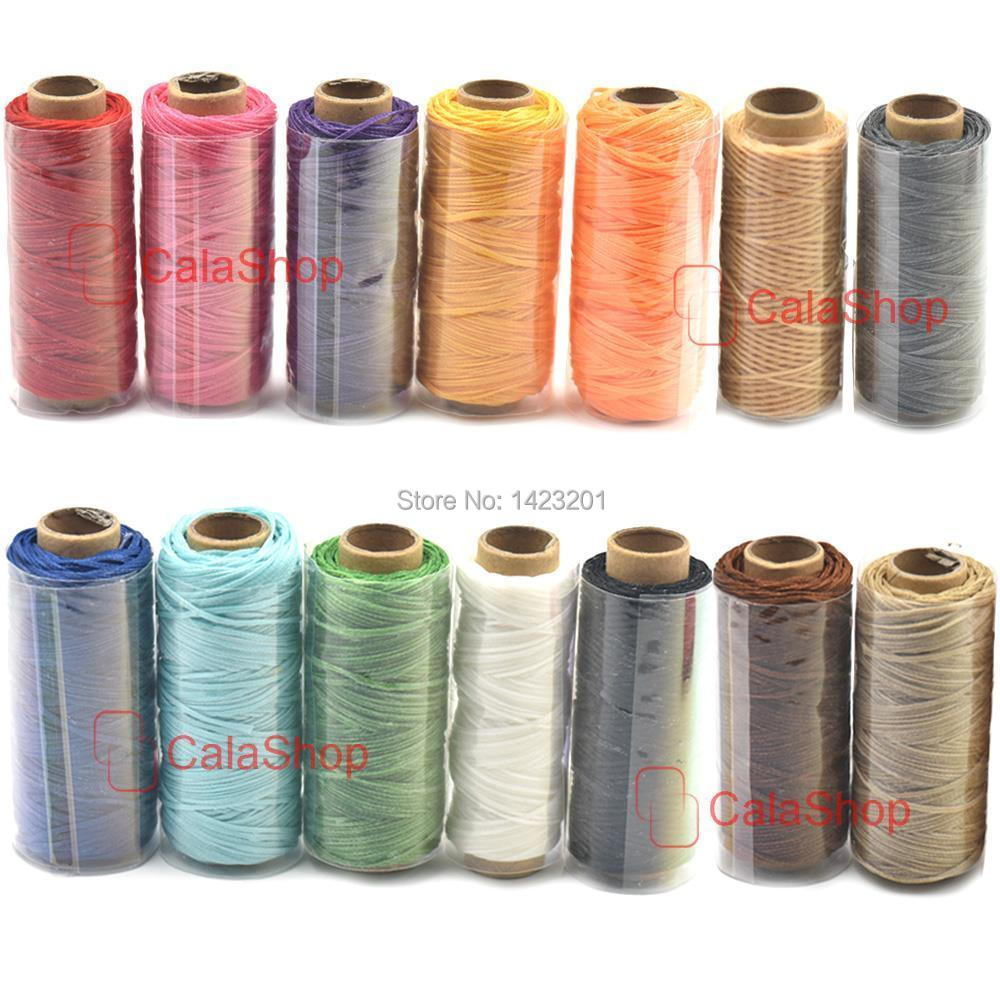 Sew hand Wax Line Leather Craft Sewing Waxed Thread Cord Tensile Bags 14 Colors