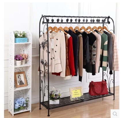 New Product Wrought Iron Clothes Rack High Grade Clothing Shelves Wedding Dress