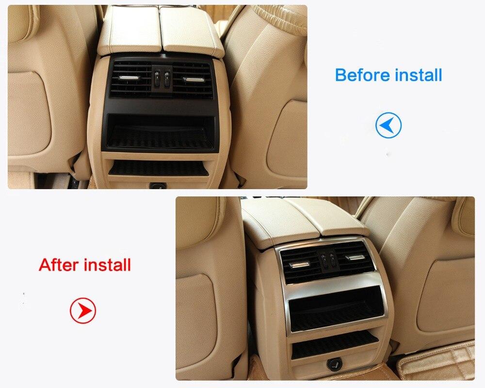 ABS хромированные аксессуары для интерьера подлокотник задний Кондиционер Выход вентиляционное отверстие отделка наклейка для BMW 5 серии f10