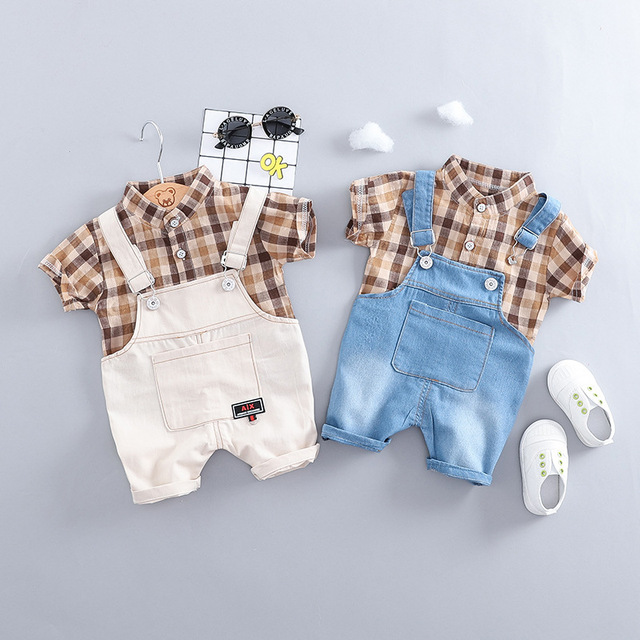Baby Boy Shirt Straps Two-Piece
