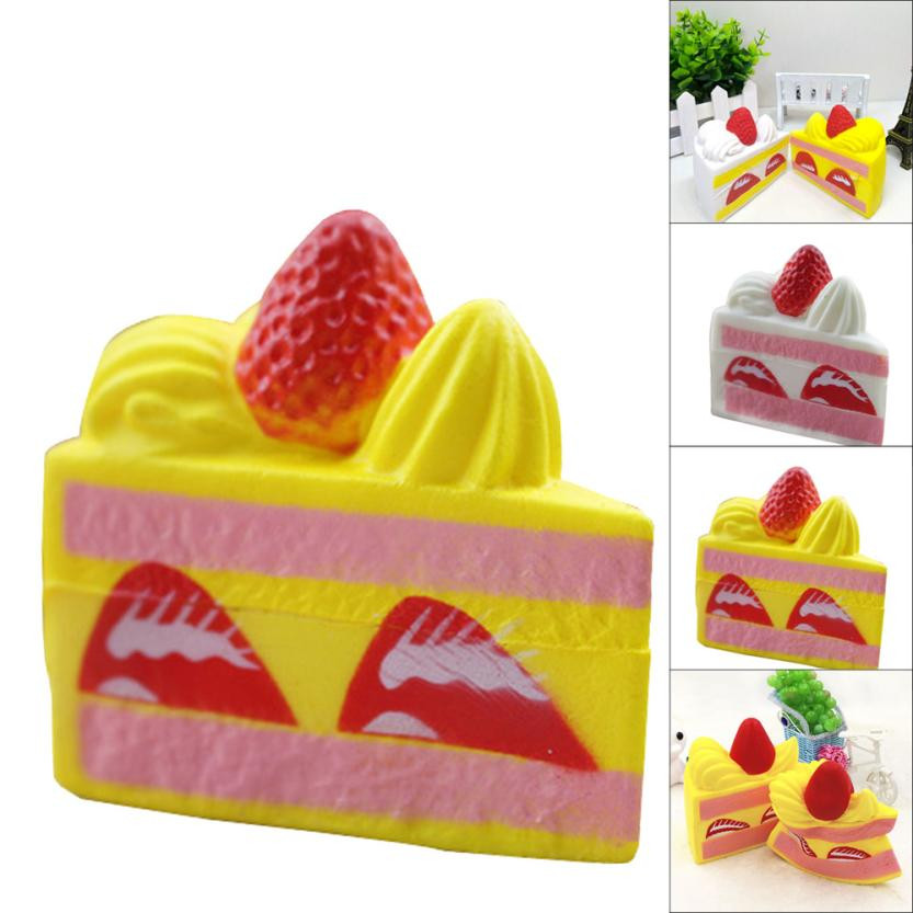 Squishy Speelgoed Strawberry Cake Squishy Slow Rising Cream Scented Anti Stress Toys 8.5*7.5*5.5cm Squeeze Toy Squishy Oyuncak