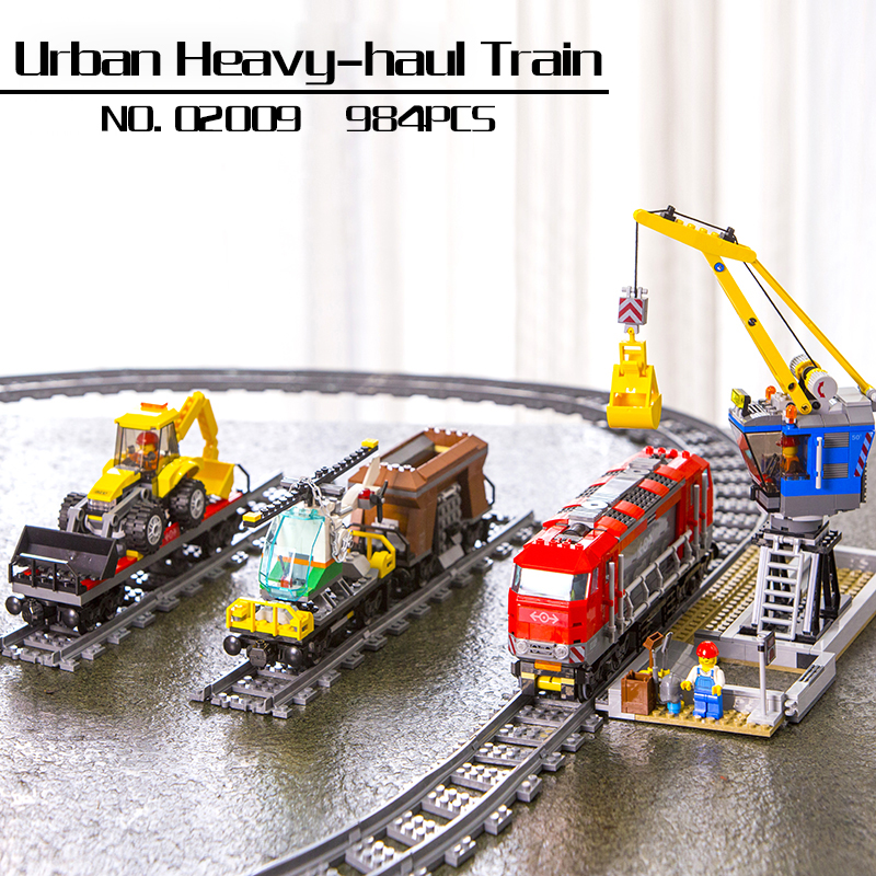 In stock 02009 City Series Remote Control Heavy-haul Train Set Building Blocks Bricks Educational Toys Model Lepin Kids Gifts in stock lepin 23015 485pcs science and technology education toys educational building blocks set classic pegasus toys gifts
