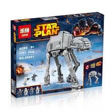 Lepin 05051 new Star War Series AT-AT Transportu Armored Robot Klocki Klocki Zabawki con 75054