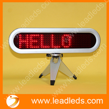 Red 7×41 pixels car Led Moving Display Sign running message display indoor usage