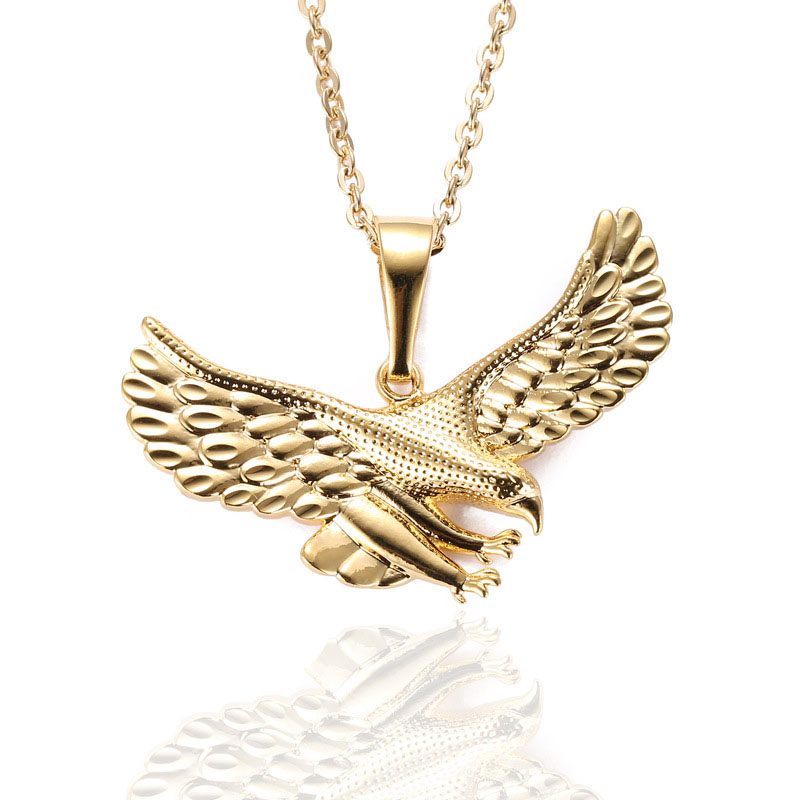 08223fccb18 Animal Charm Eagle Pendant King Crowm Eagle Necklace Hip Hop Style High  Quality Eagle Jewelry -in Pendant Necklaces from Jewelry   Accessories on  ...