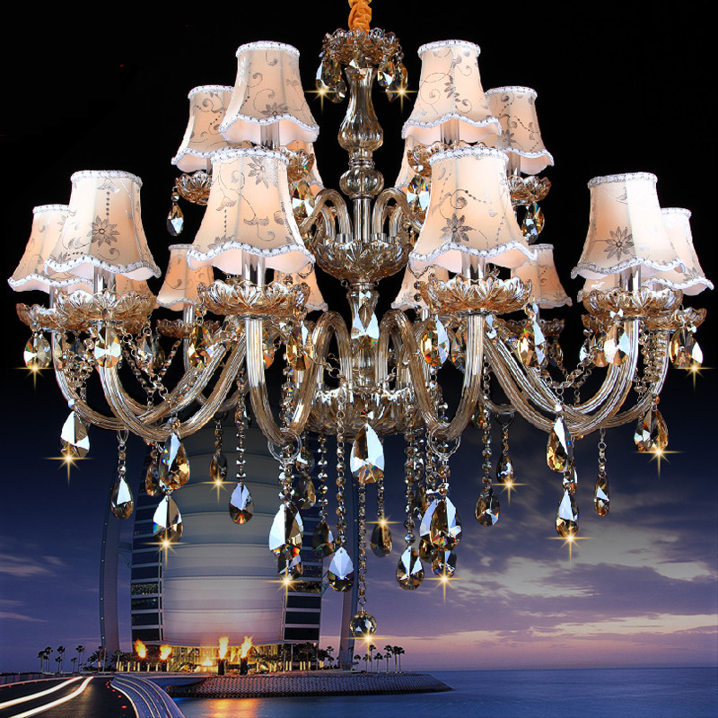 Große kronleuchter leuchte led für küche wohnzimmer hotel kristall - Innenbeleuchtung - Foto 2