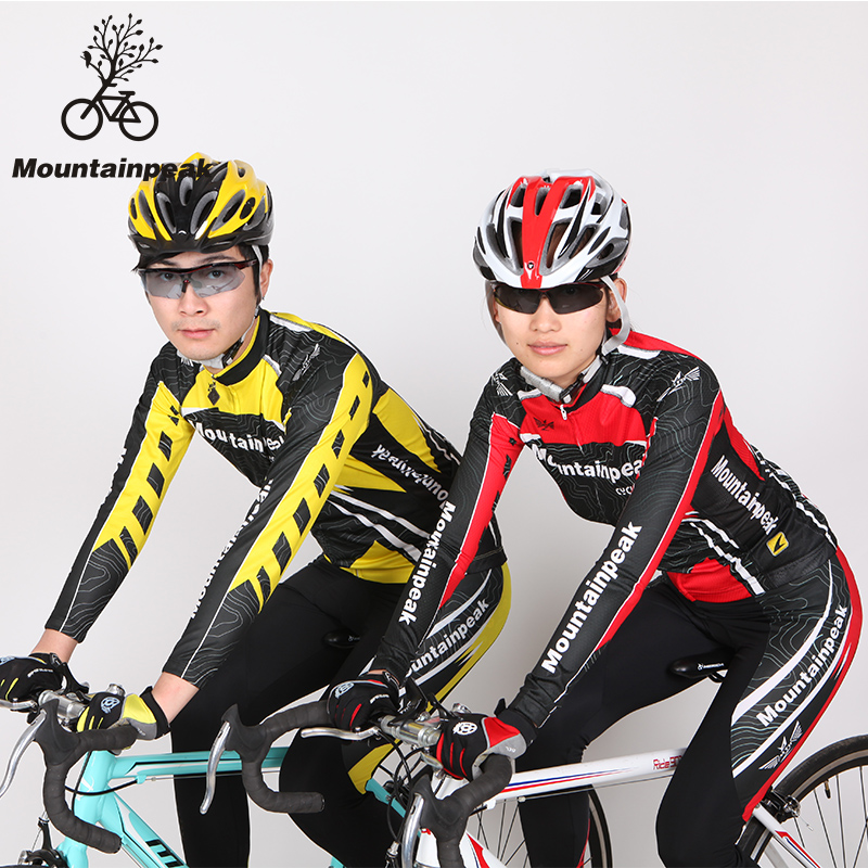 MTP New Spring&Summer Long Sleeve Bicycle Running Riding Cycling Suits Shorts Wear Pants Riding Equipment Bike Clothing Sets