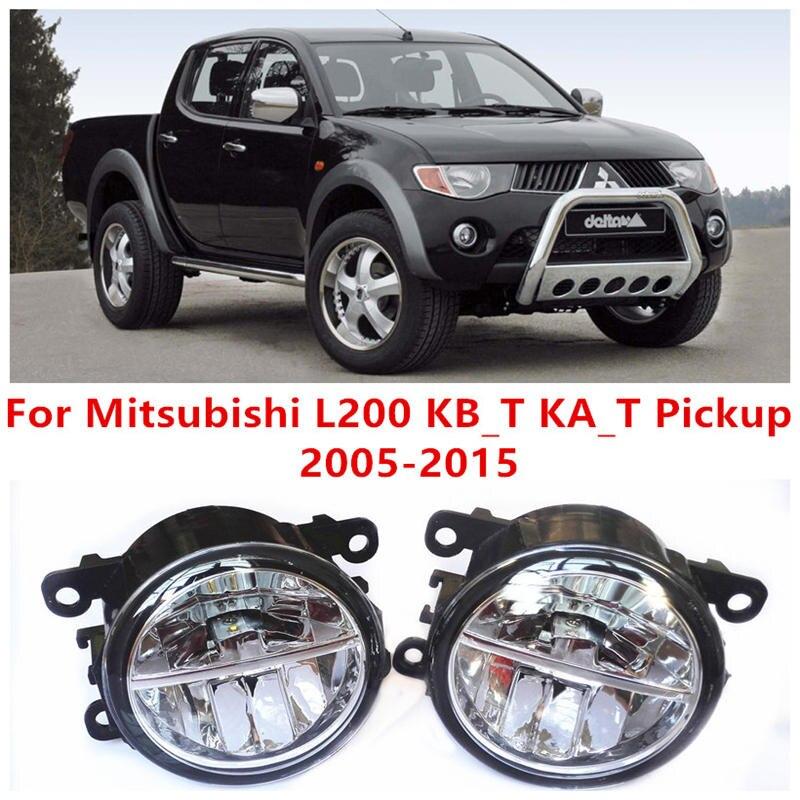 ФОТО For Mitsubishi L200 KB_T KA_T Pickup  2005-2015 Fog Lamps LED Car Styling 10W Yellow White 2016 new lights