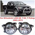 For Mitsubishi L200 KB_T KA_T Pickup  2005-2015 Fog Lamps LED Car Styling 10W Yellow White 2016 new lights