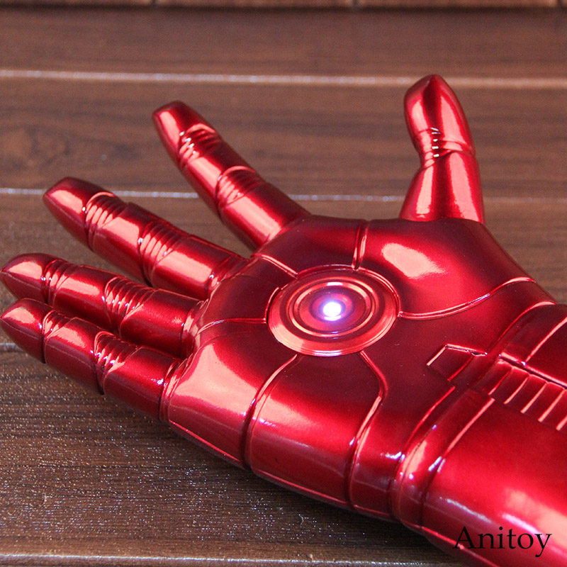 Marvel Iron Man 3 Cosplay 1/1 Arm Glove with LED Light Infrared Launchable Cosplay Toy Iron Man Figure Action