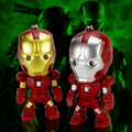 Super hero iron man LED luminous voice Keychain creative personality Pendant Keychain Car