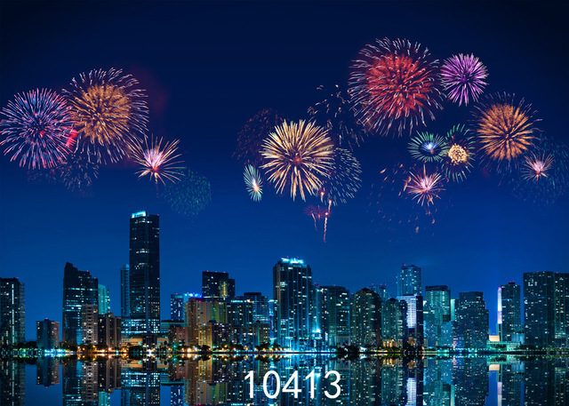 new year fireworks photography backdrops dream night city photo studio background