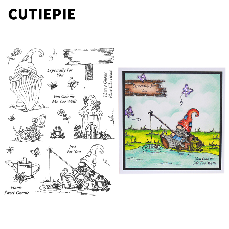 Just for You Old Man Animals Transparent Clear Stamps for Scrapbooking DIY Photo Album Embossing Folder Paper Stencils Supplies