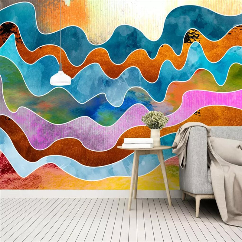 Creative wallpaper abstract artistic conception landscape water wall professional manufacturing mural photo