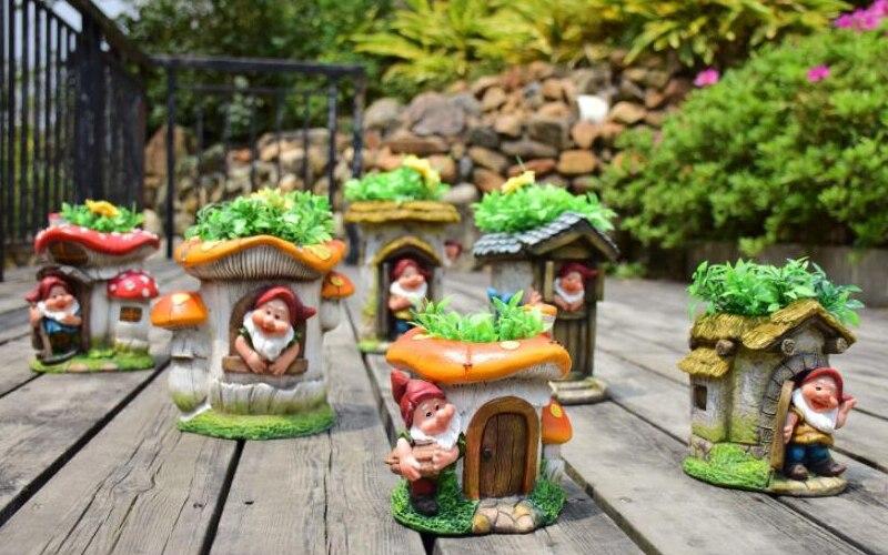 Elf Dwarf Flower Cylinder Decoration (2)