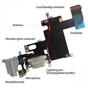 Image 4 - 1pcs USB טעינת נמל Dock Connector להגמיש כבל + מיקרופון + אוזניות אודיו שקע החלפת חלק עבור iphone 6 טעינה להגמיש