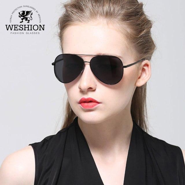 976a03ac8421e WESHION Retro Sunglasses Men Polarized Oval Brand Designer Pilot Shades  Driving Fishing Sun Glasses 2018 UV400 Zonnebril Mannen
