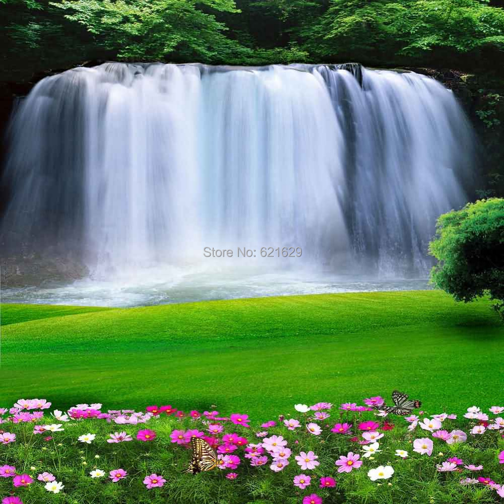 Amazing Waterfall 10 X10 Cp Computer Painted Scenic Photography