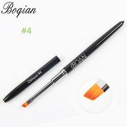 BQAN professionnel #4 peinture dessin sculpture stylo brosse acrylique pour UV Gel vernis constructeur plat conception conseils bricolage Nail Art manucure