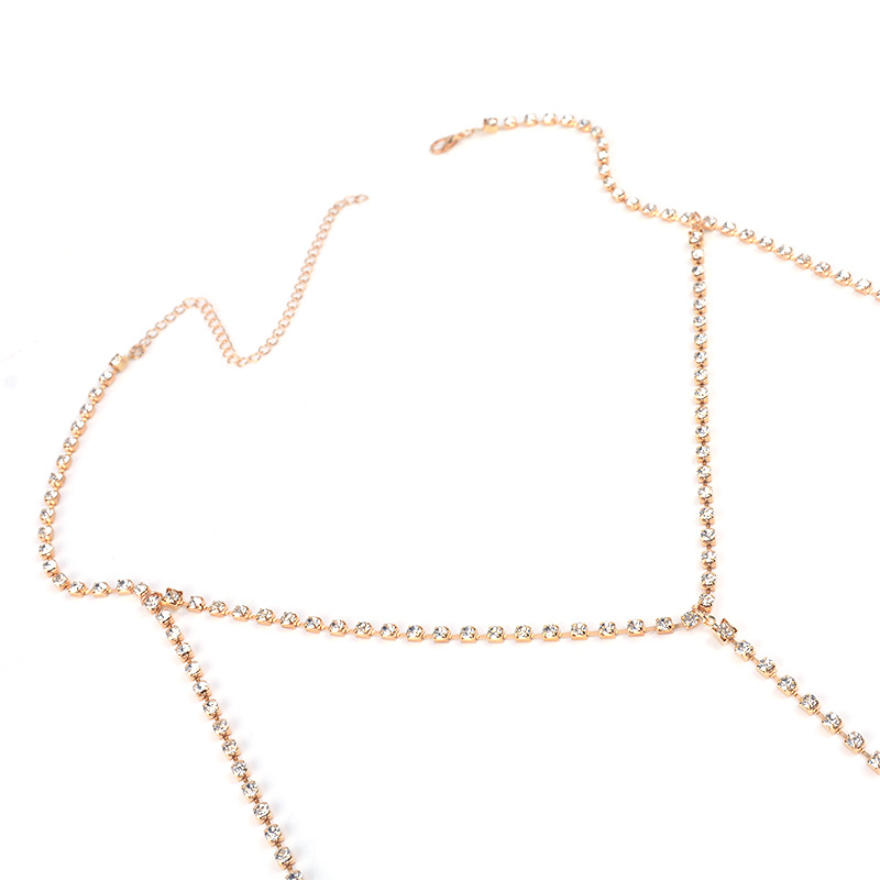 HOT Bikini Body Chain Exclusive Heavy Custom Summer Sexy Style Metal Body Chain Breast Bra Choker Collars Body Jewelry in Body Jewelry from Jewelry Accessories