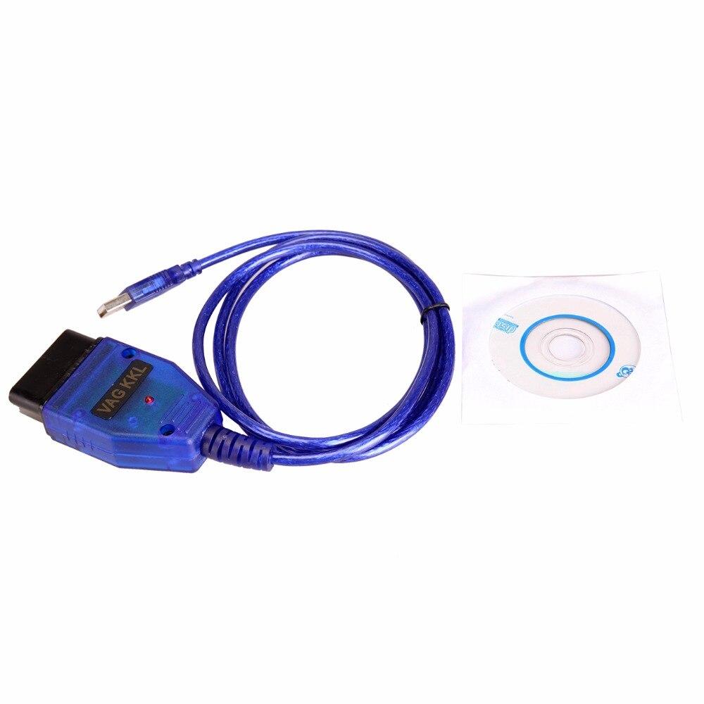 Câble USB KKL VAG-COM 409.1 OBD2 OBDII Diagnostic Scanner Pour VW Audi Seat Skoda