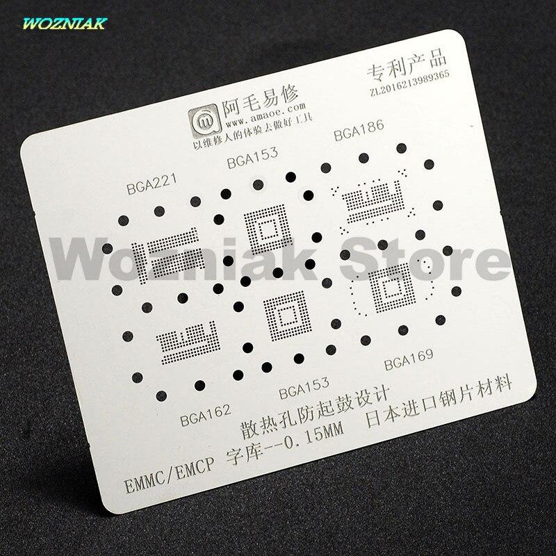 Wozniak für Japan importe stahl Wartung stahl mesh Zinn anlage Stahl net für BGA153 162 169 186 221 EMCP EMMC 6in1