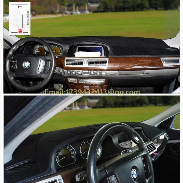 Dashmats carro styling acessórios do painel para BMW série 7 730li 740li 750d 760li 745li 755li E65 E66 E67 E68 2002 2008