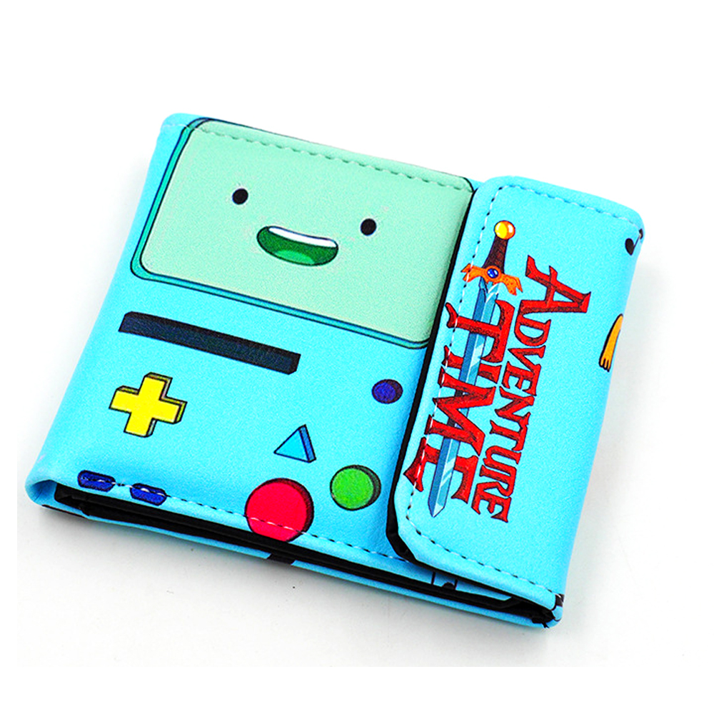 2017 Japanese Comics Cartoon Wallets Adventure Time Wallet Girls Billfold Short Leather Purse Slim Money Bag Student Wallets hot japanese cartoon anime wallet eva neon genesis evangelion student purse short billfold for young man cool gift choose