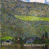 Golden Portrait UNTERACH ON LAKE ATTERSEE AUSTRIA by Gustav Klimt Oil painting reproduction Hand painted High quality