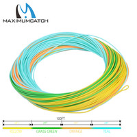 Maximucatch WF5F Fly Line 4colors 25m Section Tracking Line With Welded Loops Weight Forward Fly Floating