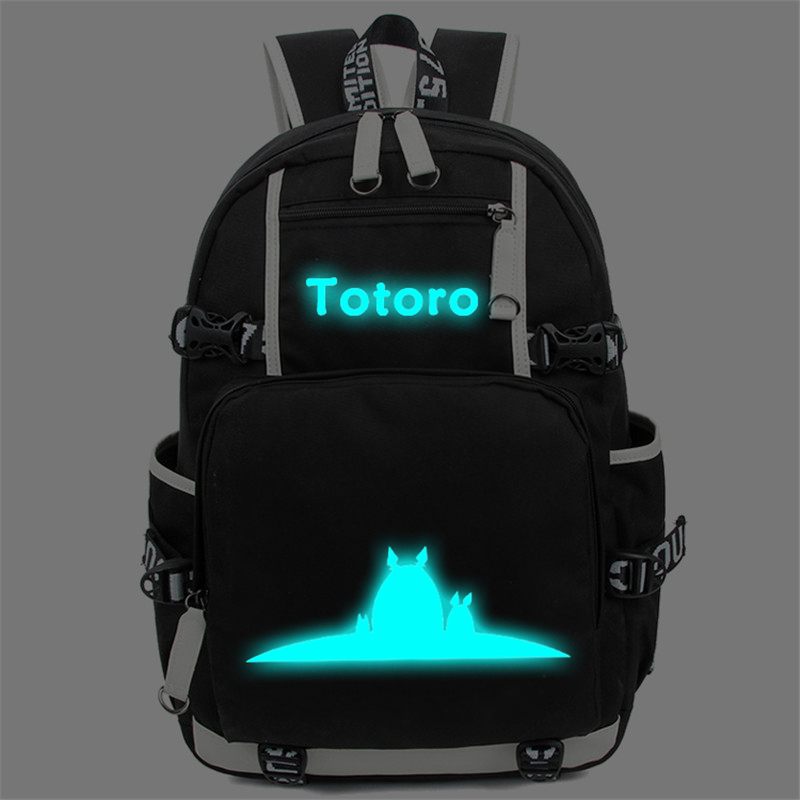 Anime Totoro School Bags Backpack My Neighbour Totoro Luminous Students Bookbag Laptop Schoolbags Rucksack Free Shipping #3