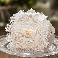 Happy Sweet Wedding Favors Candy Box Creative Party Event Give Lace Personalized Designs Wedding Gift 2016