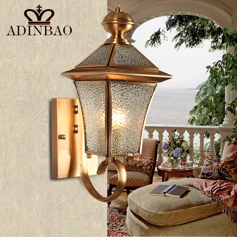 vintage copper wall sconce antique garden wall light indoor outdoor lighting bedroom retro copper wall antique courtyard outdoor lighting 1
