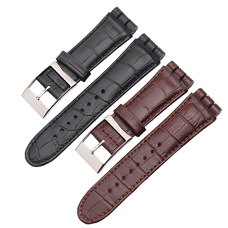 Handmade 23MM Black Imported Top Layer Calfskin Strap High Quality Mens Japanese Button Leather Strap For Swatch Replace + ToolHandmade 23MM Black Imported Top Layer Calfskin Strap High Quality Mens Japanese Button Leather Strap For Swatch Replace + Tool