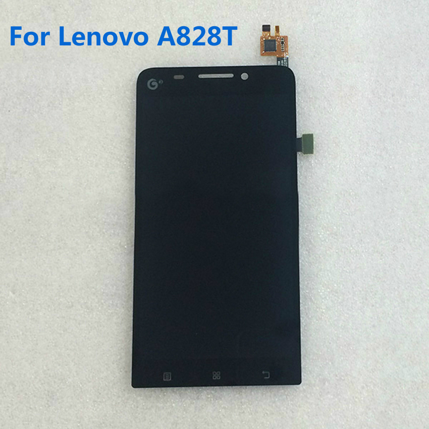 High Quality Black New Full LCD Display + Digitizer Touch Screen TP Glass Assembly For LENOVO A828T Phone Replacement Parts free ship best professional electric chinese hong kong eggettes puff waffle iron maker machine bubble egg cake oven 220v 110v