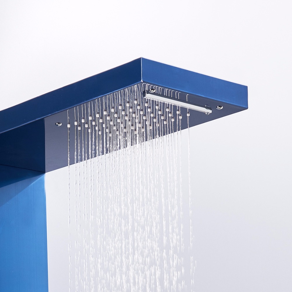 Back To Search Resultshome Improvement Flg Bathroom Shower Panels Stainless Steel Sapphire Rain Waterfall Shower Panel Massage System Shower Column With Jets Shower Equipment