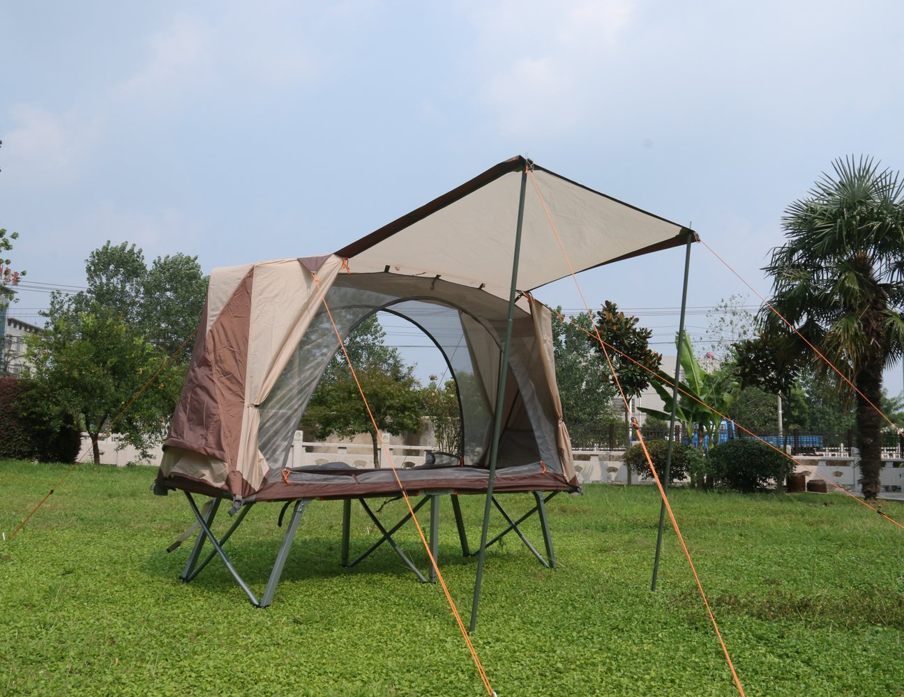 Compact Portable Tent Cot 1 Person C&ing Cot Single Sandy Beach Fishing Tent Double deck Ultralight Tent off the ground-in Tents from Sports ... & Compact Portable Tent Cot 1 Person Camping Cot Single Sandy Beach ...