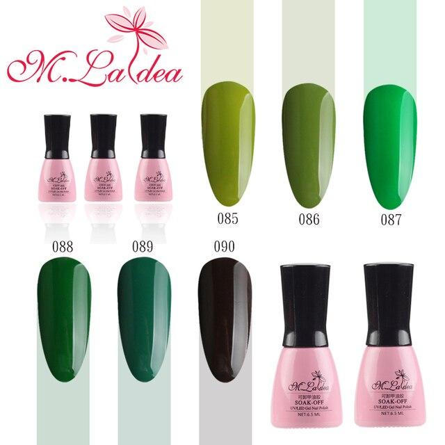 168 Colores Más Nuevo Color Nude Verde LED de Uñas de Gel Soak Off ...