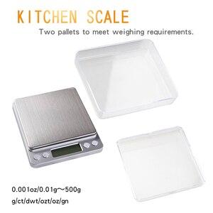 Image 5 - 500g x 0.01g wysoka dokładność przenośna waga Mini elektroniczna waga cyfrowa kieszonkowa biżuteria kuchenna waga maszyna do ważenia