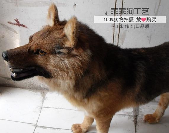 simulation cute black wolfhound 100x80x25cm model polyethylene&furs dog model home decoration props ,model gift d880 simulation squatting dalmatian dog 20x12x25cm model polyethylene