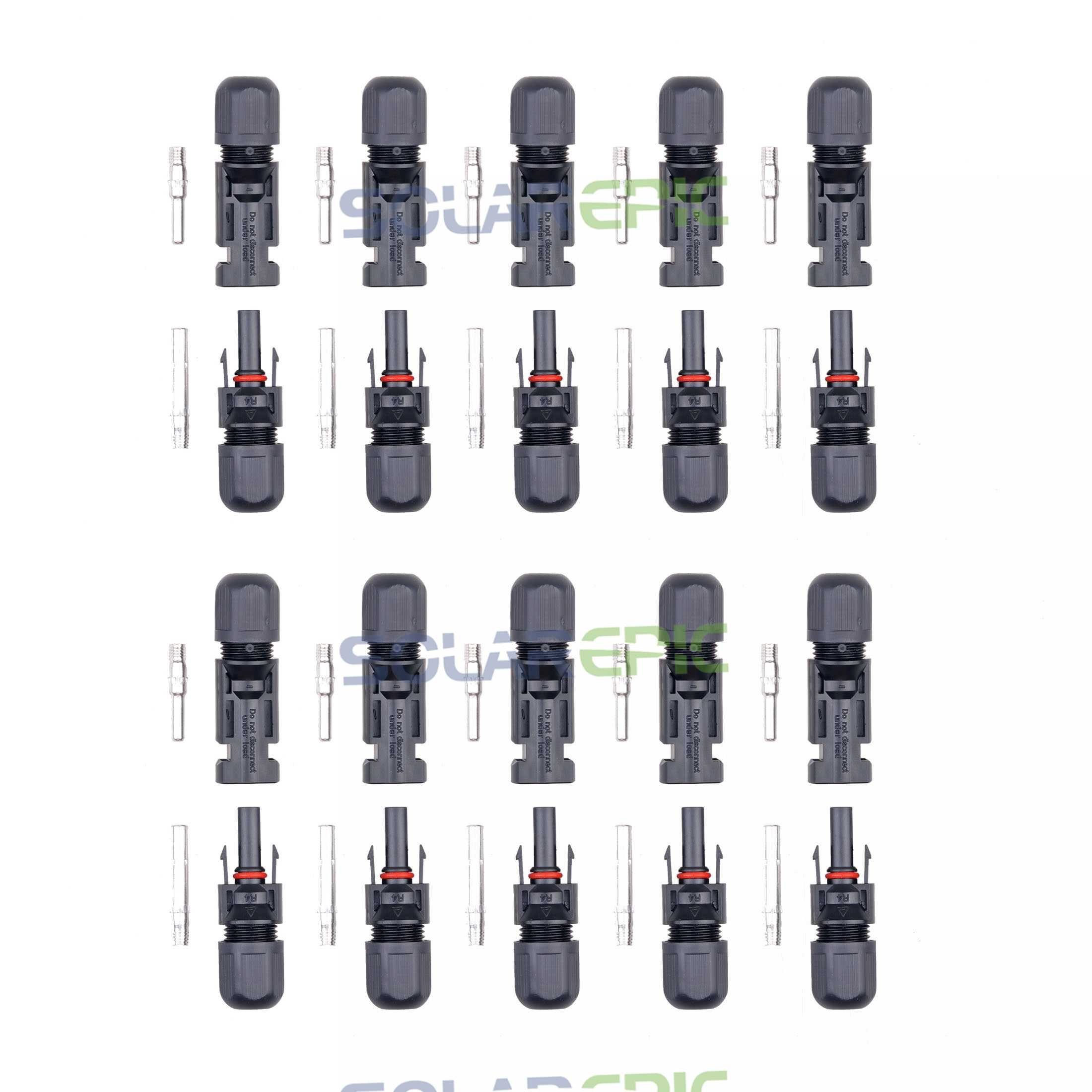 10 Pairs MC4 Solar Panel Cable Connector MC4 Cable Connectors Set Solar Panel Micro Connector Good Quality Panel Connector MC4